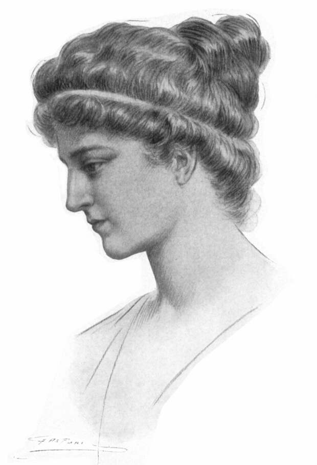 Гипатия. Картина Жюля Мориса Гаспара, 1908. <br>