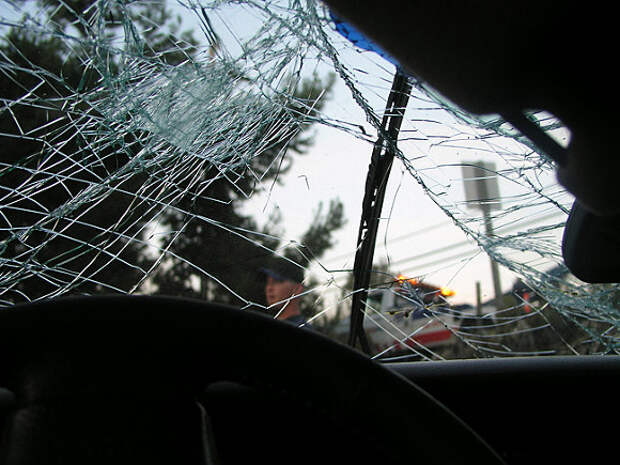 Автомобиль перевернулся после ДТП на Звенигородском шоссе