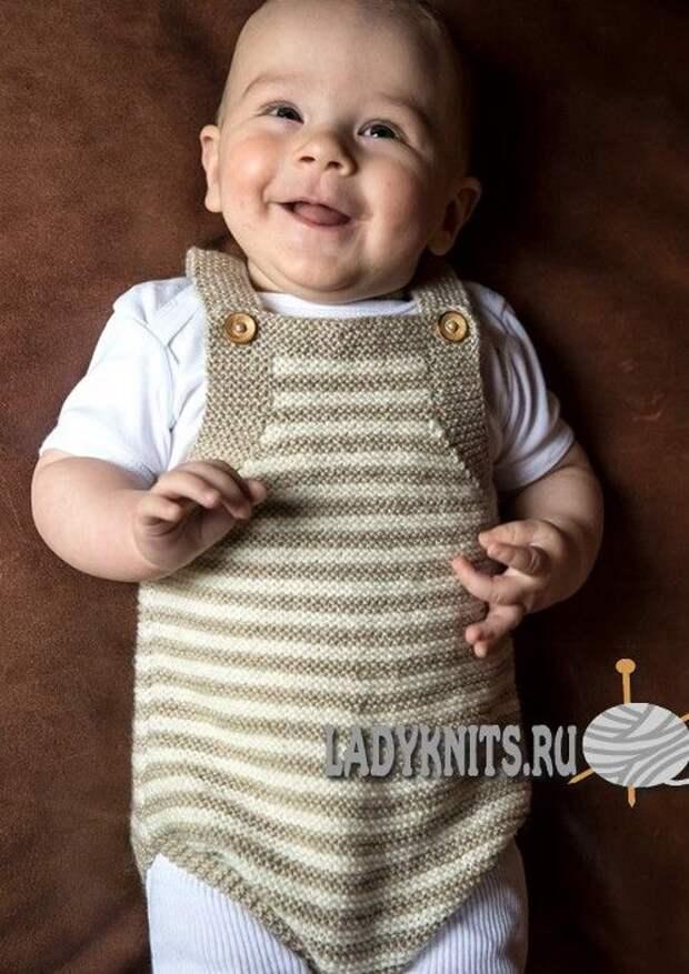Боди для малыша спицами