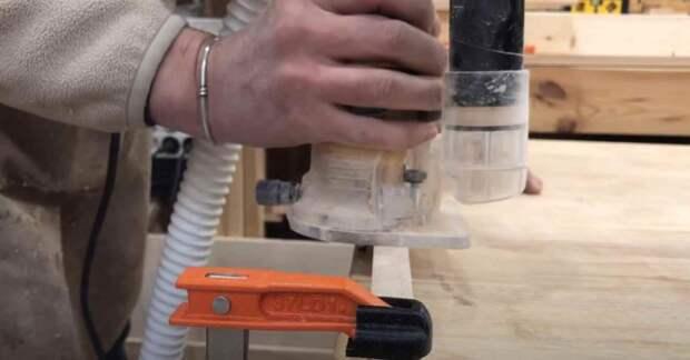 Как быстро округлить квадратные деревянные рейки с помощью ручного фрезера