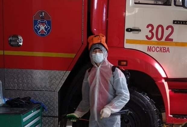 Московские спасатели приняли усиленные меры по дезинфекции