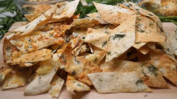 Хрустящие чипсы за 3 минуты без возни. два вкуса.