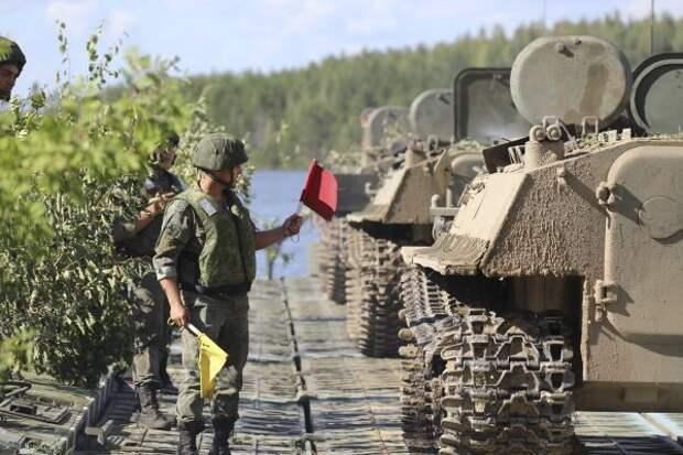 ВЗападном военном округе России начались военные учения сприменением роботов