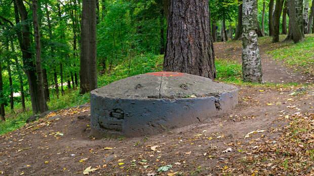 Железобетонная огневая точка времён Великой Отечественной войны