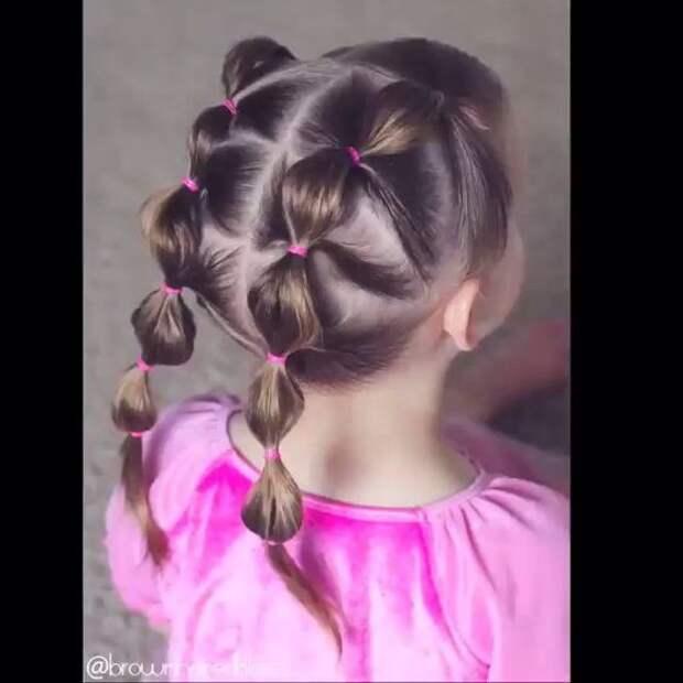 Детские прически с косичками (трафик)