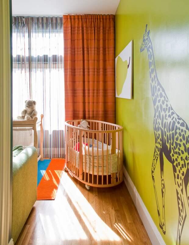 Также графические рисунки можно использовать для оформления детской комнаты, достаточно взять за основу яркий и сочный цвет