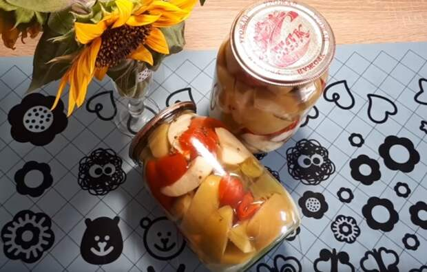 яблоки со сладким перцем
