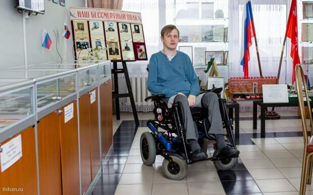 Подопечный пансионата на Правобережной после аварии осваивает новую профессию