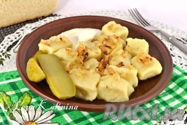 Рецепт ленивых вареников из картофеля