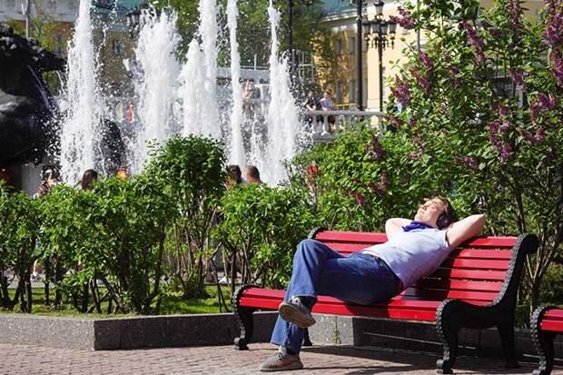 Москвичам пообещали жаркую погоду на неделе с 14 по 20 июня