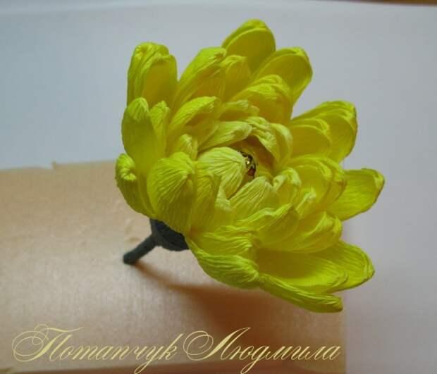 Мастер-класс по свит-дизайну. Конфетная хризантема.