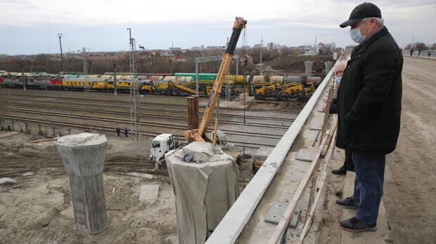 Спроверкой настроящийся мост наМалиновского вРостове нагрянул губернатор Голубев