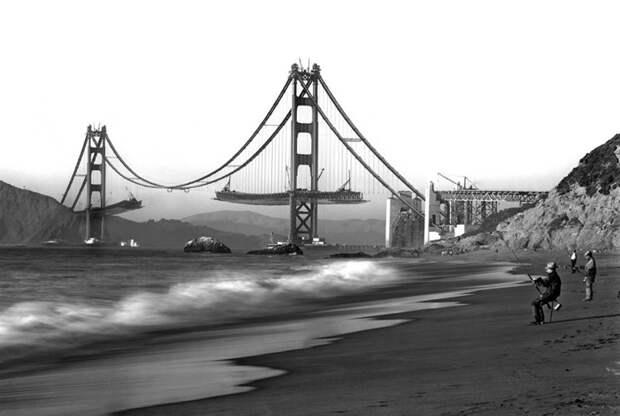23. Строительство Золотых Ворот, 1930-е. история, мир, фотография