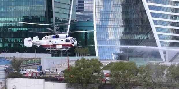 Четыре вертолета МАЦ обеспечивают пожарную безопасность столицы