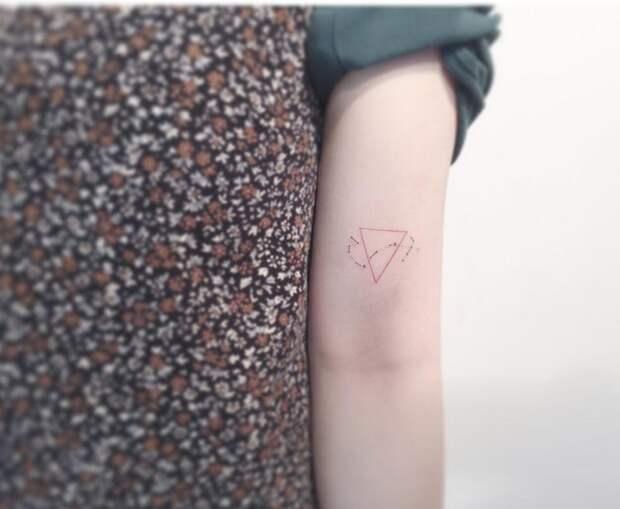 Thin line, small, simple tatoo