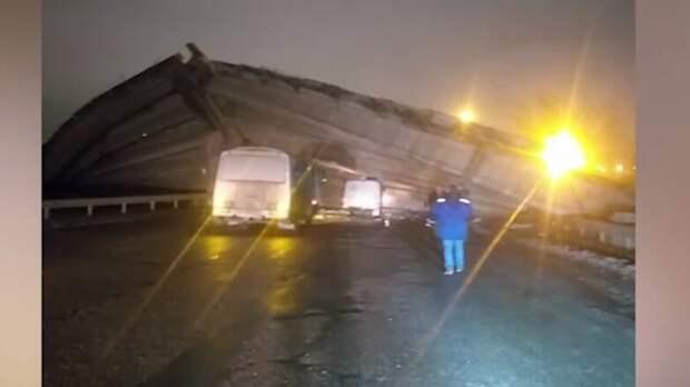 В сети появилось видео с места обрушения моста в Оренбурге