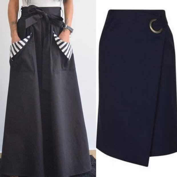 интересные вязаные юбки