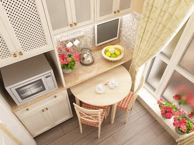 Нотки прованса в оформлении кухни