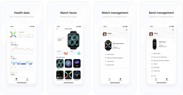 Смарт-часы OPPO Watch и браслет OPPO Band получили поддержку iOS