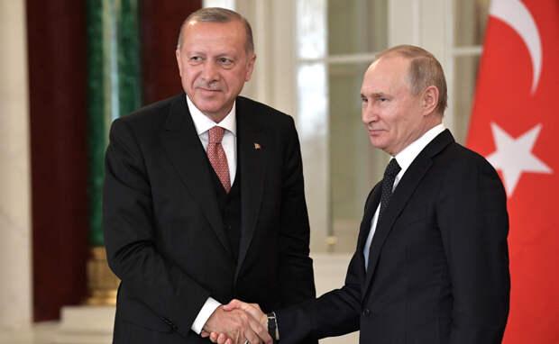 ВКремле раскрыли детали разговора Путина сЭрдоганом
