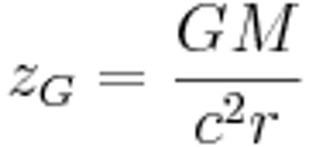 z_G = \frac{GM}{c^2r}