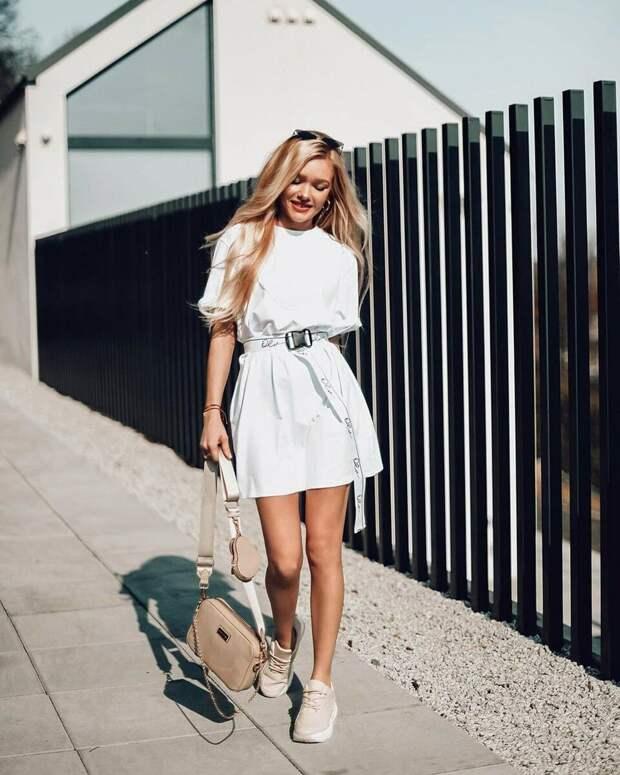Платье-футболка: 18 простых способов выглядеть эффектно и стильно
