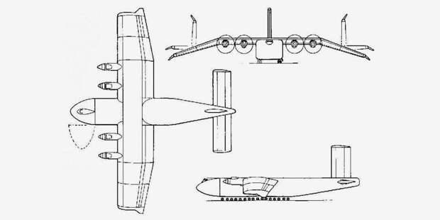 Проект транспортного экраноплана Boeing Pelican ULTRA