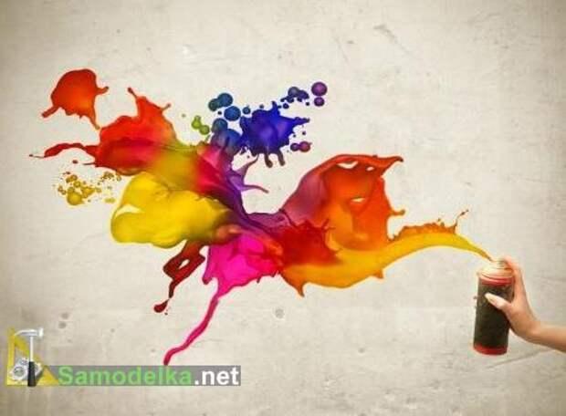 учимся красить краской из баллончика