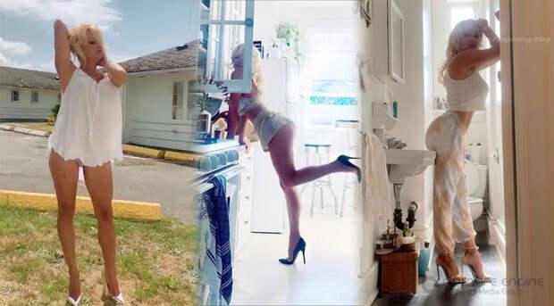 53-летняя американская актриса и фотомодель Памела Андерсон (Pamela Anderson) в горячей фотосессии