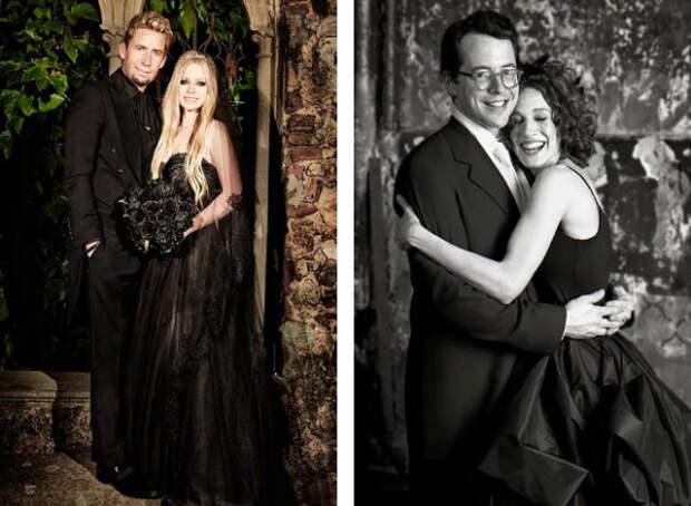 аврил лавин и сара джессика паркер в черном свадебном платье
