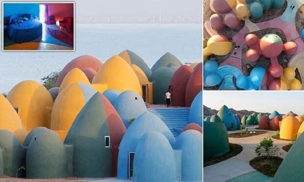 Как выглядит Маджара, яркий мультяшный курорт на иранском острове Ормуз