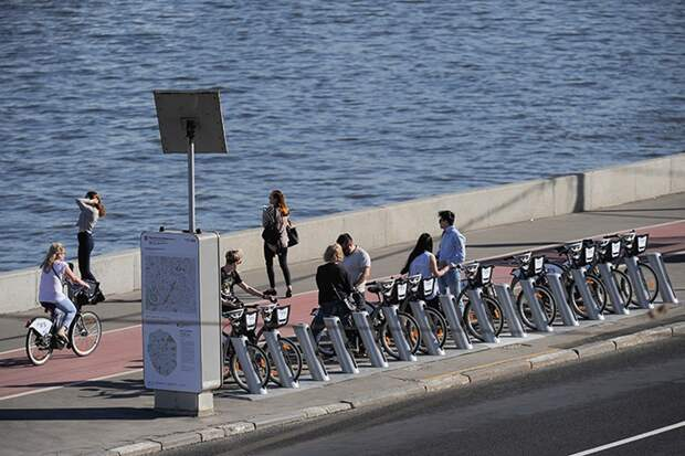 Москвичи три миллиона раз воспользовались велопрокатом с начала года