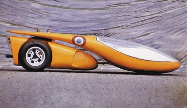 "Coiani Le Mans Prototype (1970) Концепт гоночной машины для ""24 часов Ле-Мана"" на базе Lamborghini Miura Colani, авто, дизайн"