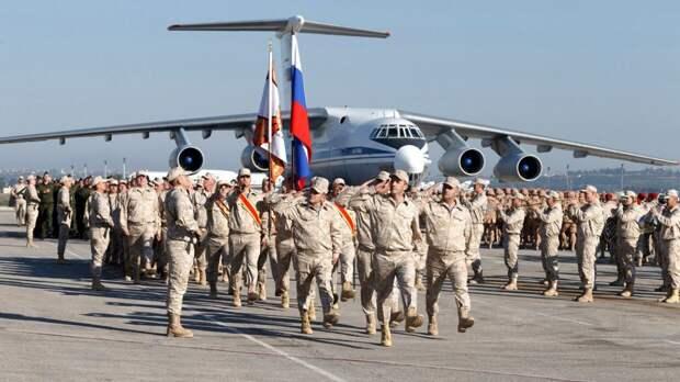 На авиабазе ВКС РФ Хмеймим в Сирии провели торжество в честь Дня Победы