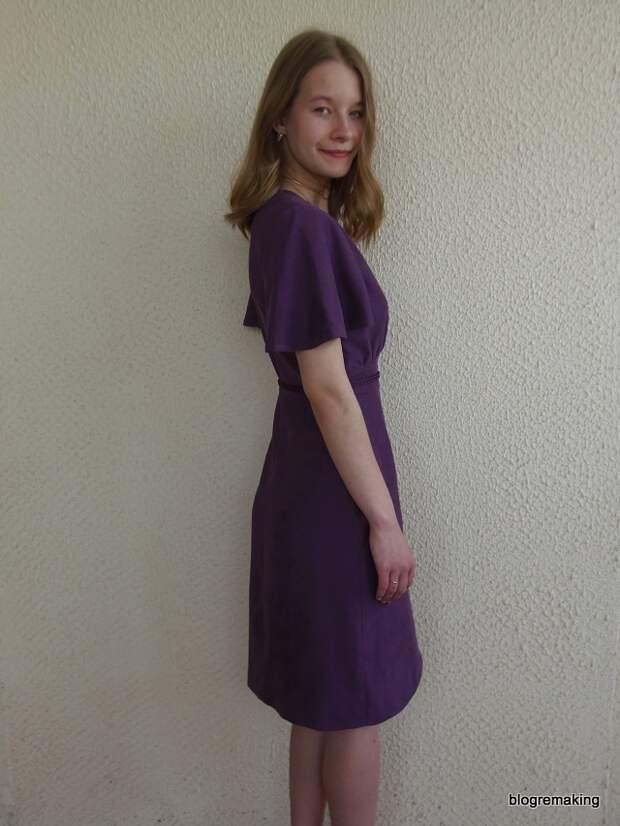 Технология пошива платья с запахом на юбке