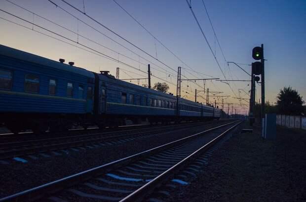 Дорога, Поезд, Вагоны, Ночь, Вечер, Железная Дорога