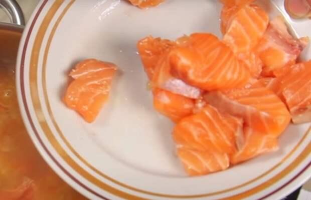 суп из лосося голова и хвост