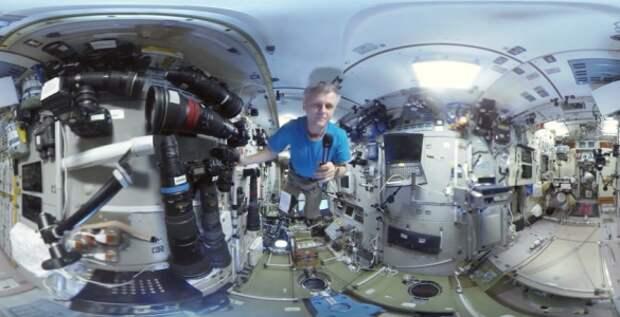 Видеорепортажи с МКС в формате «360 градусов»