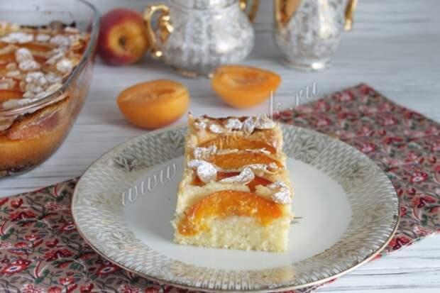 Рецепт манника с абрикосами
