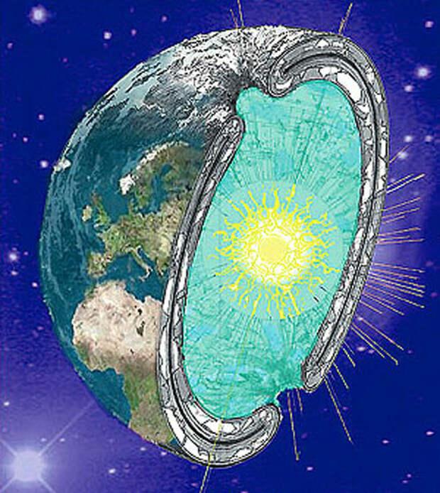 """Так некоторые """"видят"""" внутренность Земли"""