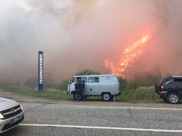 На трассе между Сарапулом и Каракулино затруднено движение из-за лесного пожара