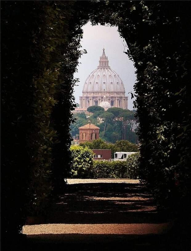 Сад апельсиновых деревьев в Риме