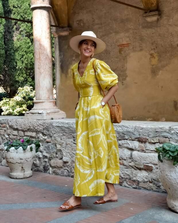 модный летние образы в желтом цвете фото 1