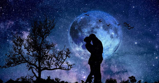 Полнолуние и астрология любовных отношений