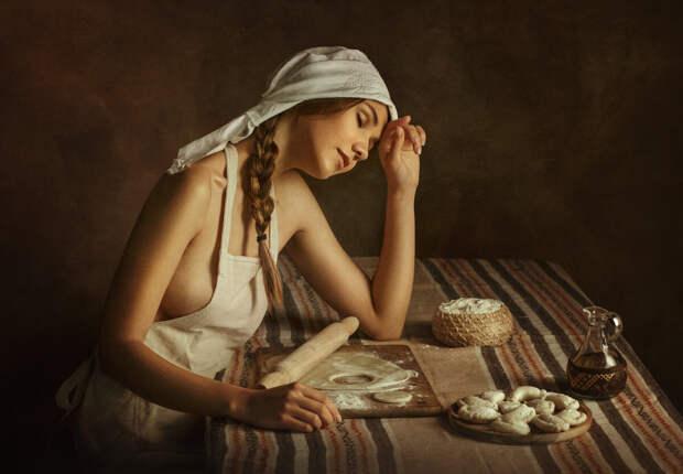 Сельская хозяюшка в фото фантазиях Евгения Лозы.