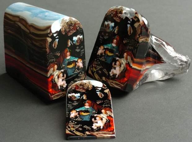 муррини картины из стекла лорена стампа