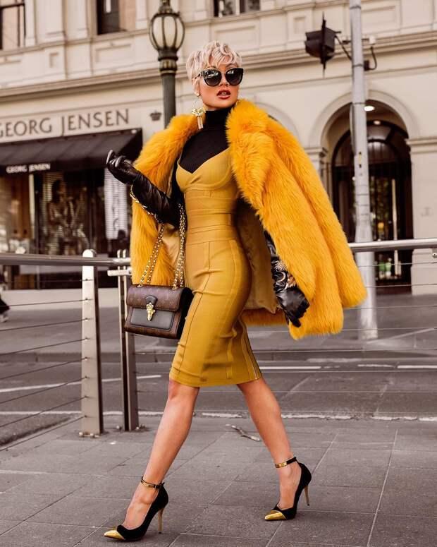 Желтое платье: 25 идей, которые помогут зарядиться позитивом и оптимизмом