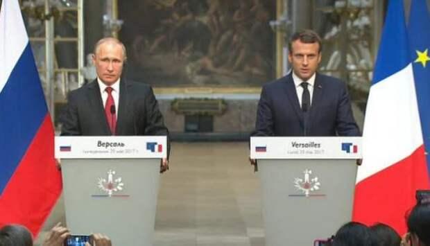 Макрон заявил, что уважает Путина и не видит законного преемника Асада в Сирии   Продолжение проекта «Русская Весна»