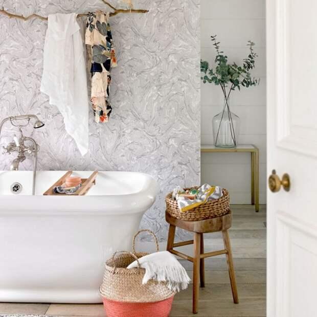 Ветка в ванной