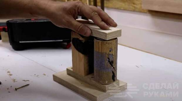 Шлифовальный станок на базе ленточной шлифмашинки